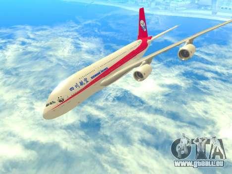 Airbus  A380-800 Sichuan Airlines für GTA San Andreas Seitenansicht