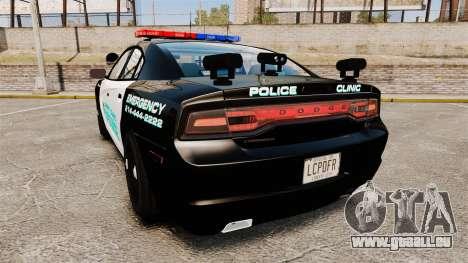 Dodge Charger 2011 Liberty Clinic Police [ELS] pour GTA 4 Vue arrière de la gauche