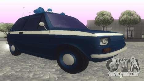Fiat 126p milicja für GTA San Andreas zurück linke Ansicht