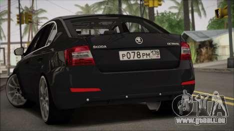 Skoda Octavia A7 pour GTA San Andreas laissé vue