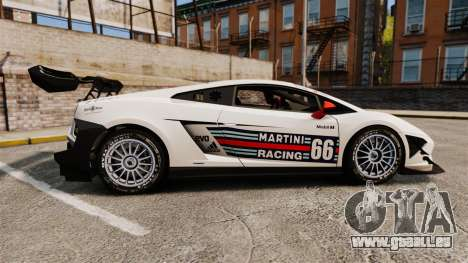 Lamborghini Gallardo LP570-4 Martini Raging für GTA 4 linke Ansicht