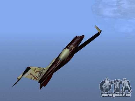 Bombardier Learjet 45 pour GTA San Andreas vue de dessus