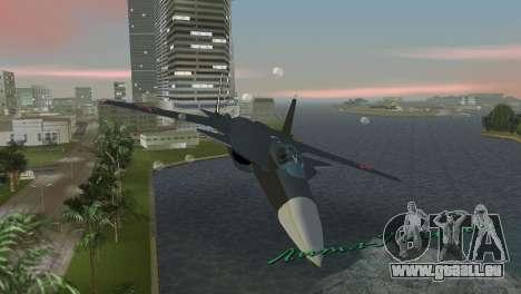 Su-47 Berkut pour une vue GTA Vice City de l'intérieur