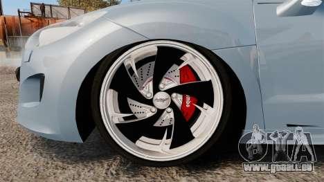 Peugeot RCZ pour GTA 4 Vue arrière