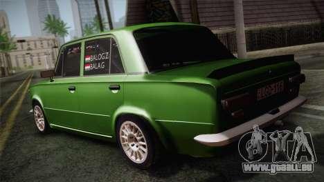 Lada 1200 R pour GTA San Andreas sur la vue arrière gauche