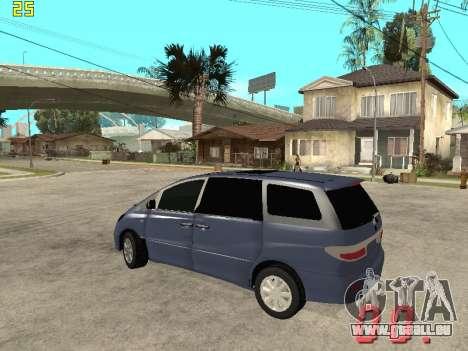 Toyota Estima KZ Edition 4wd für GTA San Andreas zurück linke Ansicht