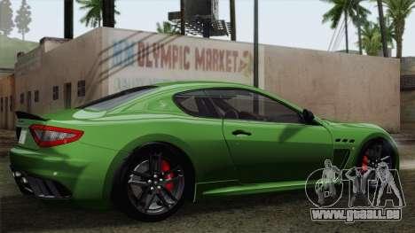 Maserati GranTurismo MC Stradale für GTA San Andreas Seitenansicht