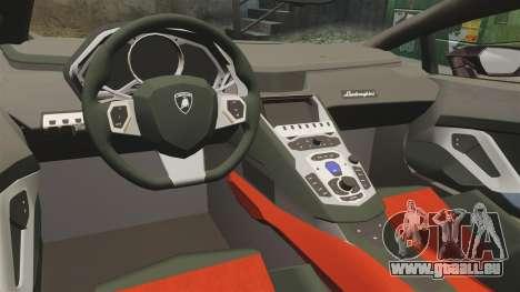 Lamborghini Huracan 2014 pour GTA 4 est une vue de l'intérieur