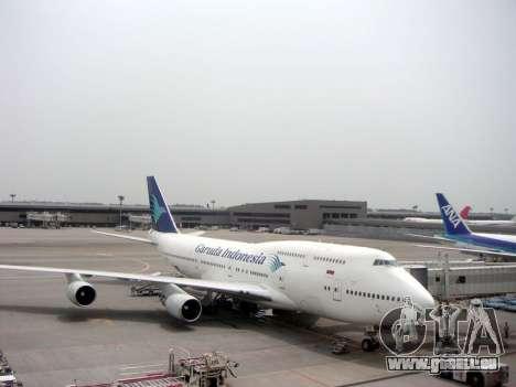 Boeing 747-400 Garuda Indonesia für GTA San Andreas Seitenansicht