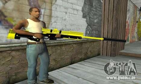 Yellow Sniper Rifle für GTA San Andreas dritten Screenshot