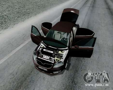 Skoda Octavia A7 pour GTA San Andreas vue arrière