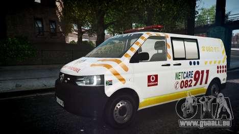 Volkswagen Transporter 2011 NetCare911 [ELS] für GTA 4