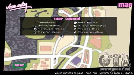 Les icônes de la carte de GTA V pour GTA Vice City