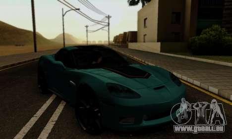 Chevrolet Corvette Grand Sport 2010 pour GTA San Andreas vue intérieure