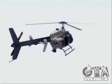 Bell 407 SAPD pour GTA San Andreas laissé vue