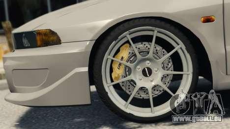 Mitsubishi Galant8 VR-4 pour GTA 4 Vue arrière de la gauche