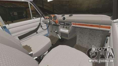 VAZ-2106 Zhiguli BUNKER pour GTA 4 est une vue de l'intérieur