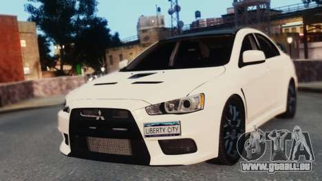 Mitsubishi Lancer Evolution X 2008 für GTA 4 linke Ansicht