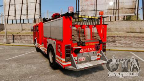 Fire Truck v1.4A LSFD [ELS] pour GTA 4 Vue arrière de la gauche