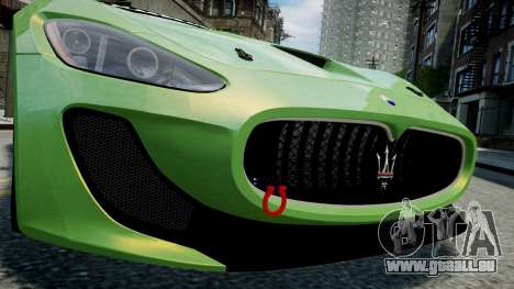Maserati GranTurismo MC 2009 pour GTA 4 est une vue de l'intérieur