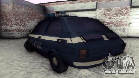 Fiat 126p milicja für GTA San Andreas Rückansicht