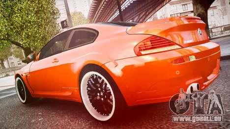 BMW M6 Hamann Widebody v2.0 pour GTA 4 est une vue de l'intérieur