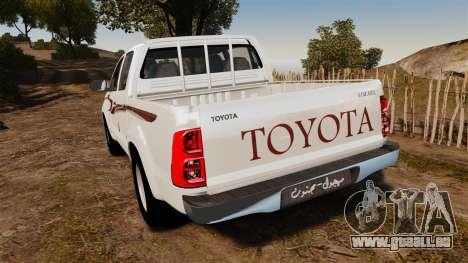 Toyota Hilux 2014 für GTA 4 hinten links Ansicht