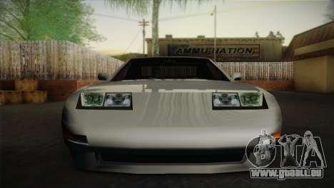 New Euros V1 pour GTA San Andreas sur la vue arrière gauche