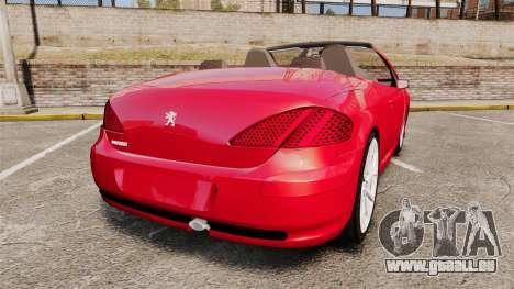 Peugeot 308 CC pour GTA 4 Vue arrière de la gauche