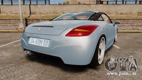 Peugeot RCZ pour GTA 4 Vue arrière de la gauche