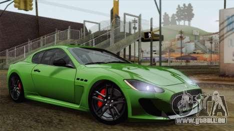 Maserati GranTurismo MC Stradale für GTA San Andreas Innenansicht
