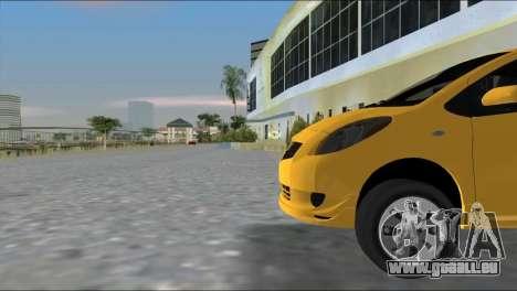 Toyota Yaris pour GTA Vice City sur la vue arrière gauche