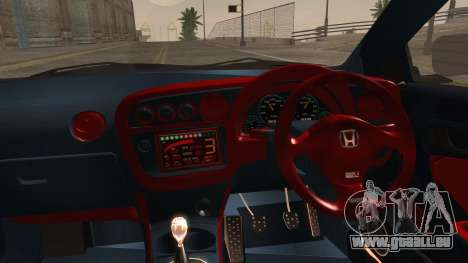 Honda Integra Type R pour GTA San Andreas vue arrière