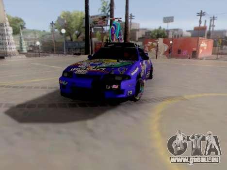 Nissan GT-R R33 HellaFlush V2 für GTA San Andreas