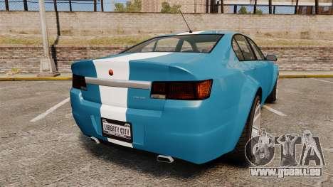 GTA V Cheval Fugitive new wheels für GTA 4 hinten links Ansicht
