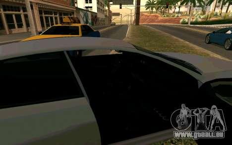 GTA V Obey Tailgater für GTA San Andreas zurück linke Ansicht