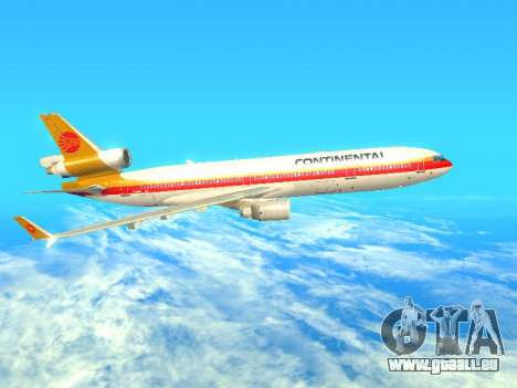 McDonnell Douglas MD-11 Continental Airlines für GTA San Andreas linke Ansicht