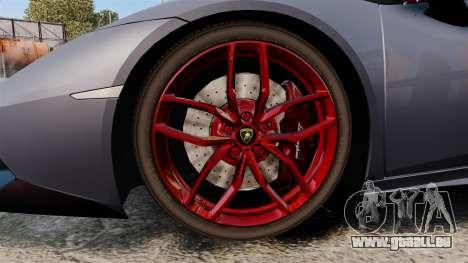 Lamborghini Huracan 2014 für GTA 4 Rückansicht