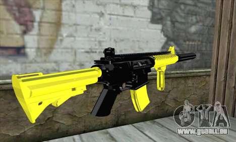 Yellow M4A1 für GTA San Andreas zweiten Screenshot