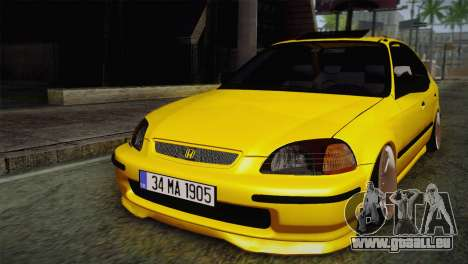Honda Civic Edit Mehmet ALAN für GTA San Andreas