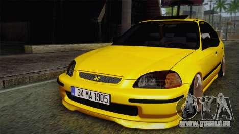 Honda Civic Edit Mehmet ALAN pour GTA San Andreas