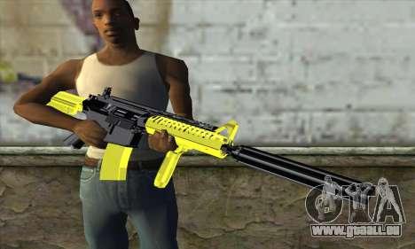 Yellow M4A1 pour GTA San Andreas troisième écran