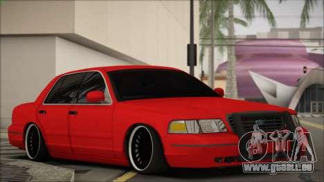 Ford Crown Victoria pour GTA San Andreas laissé vue