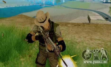 Resident Evil Apocalypse S.T.A.R.S. Sniper Skin pour GTA San Andreas deuxième écran