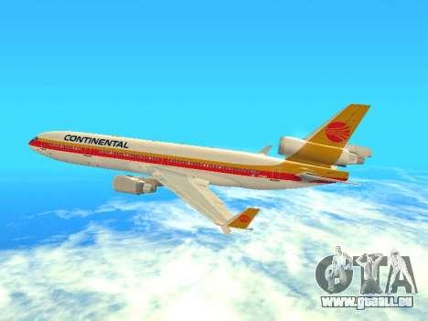 McDonnell Douglas MD-11 Continental Airlines für GTA San Andreas Rückansicht