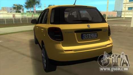 Suzuki SX4 Sportback pour GTA Vice City sur la vue arrière gauche