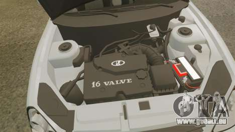 ВАЗ-Lada 2170 Priora v2.0 pour GTA 4 Vue arrière