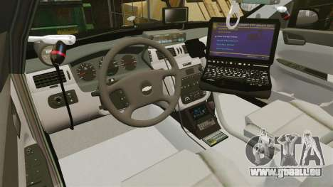 Chevrolet Impala 2010 LS Unmarked K9 Unit [ELS] pour GTA 4 Vue arrière