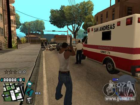 C-HUD Rifa in Ghetto pour GTA San Andreas quatrième écran