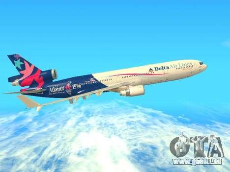 McDonnell Douglas MD-11 Delta Airlines für GTA San Andreas Rückansicht